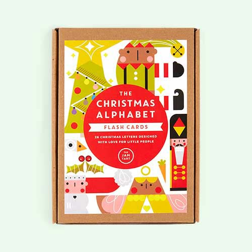 Multi The Jam Tart Alphabet Christmas Flash Cards