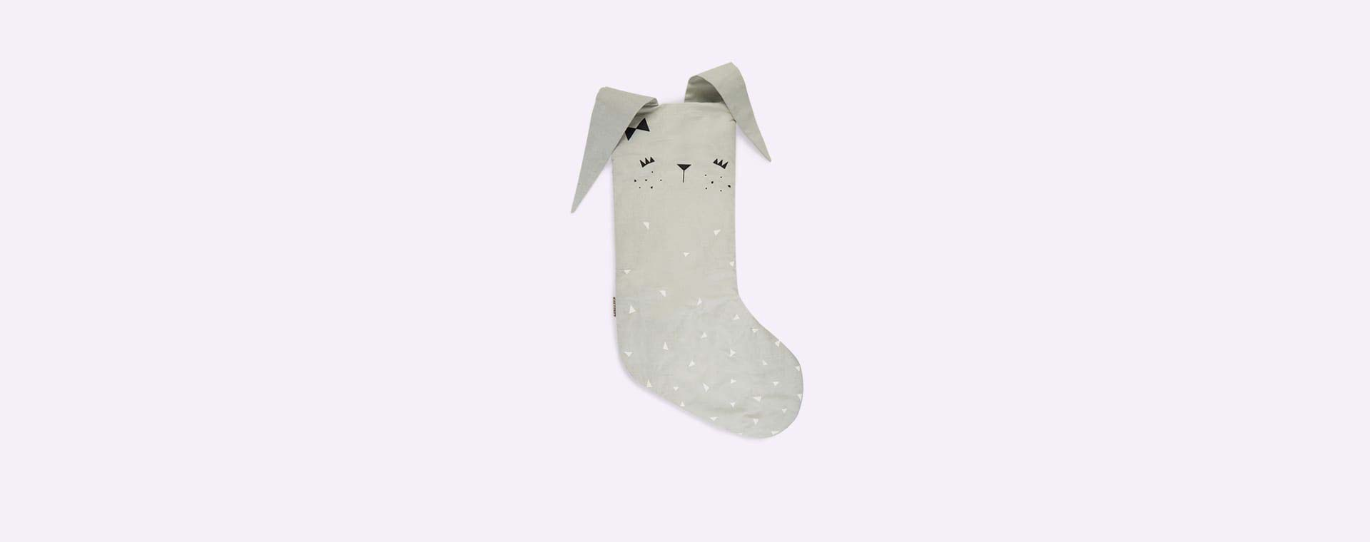 Grey Fabelab Christmas Animal Stocking Bunny