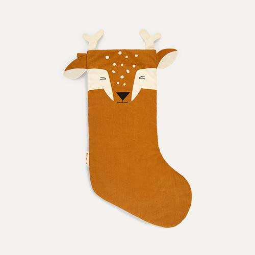 Brown Fabelab Christmas Animal Stocking Silly Fawn