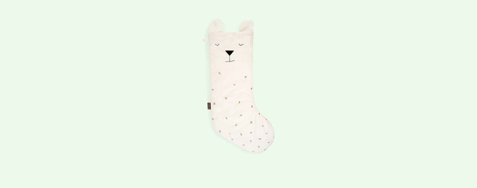 White Fabelab Christmas Animal Stocking Polar Bear