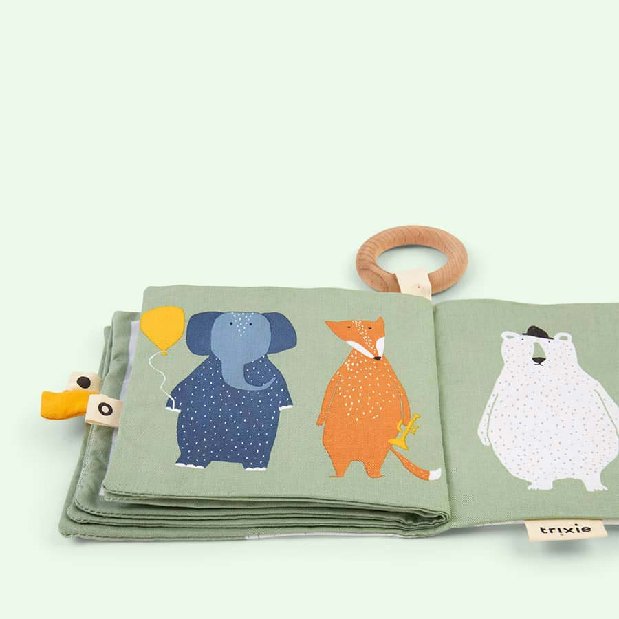 Multi Trixie Four Animals Soft Book