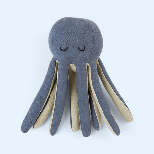 Blue Spruce Fabelab Octopus Rattle