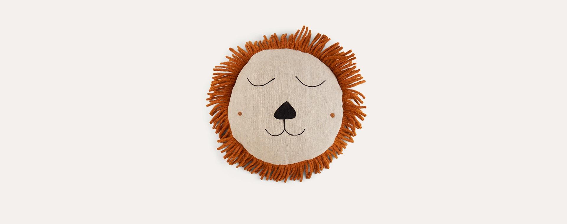 Grey Ferm Living Lion Safari Cushion