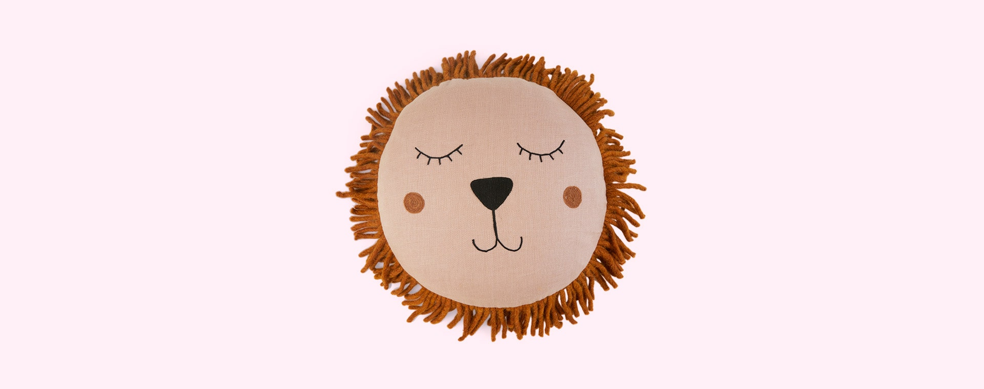 Dusty Rose Ferm Living Lion Safari Cushion