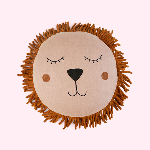 Dusty Rose Ferm Living Lion Safari Cushion