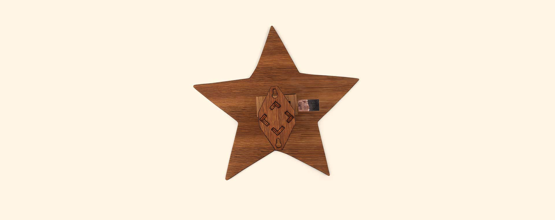 Smoked Wood Ferm Living Star Wall Light