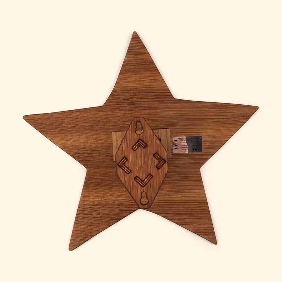 Smoked Wood Ferm Living Star Wall Light