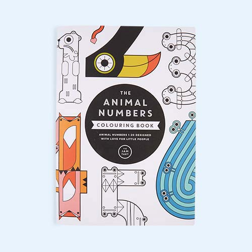 Multi The Jam Tart The Animal Numbers Colouring Book