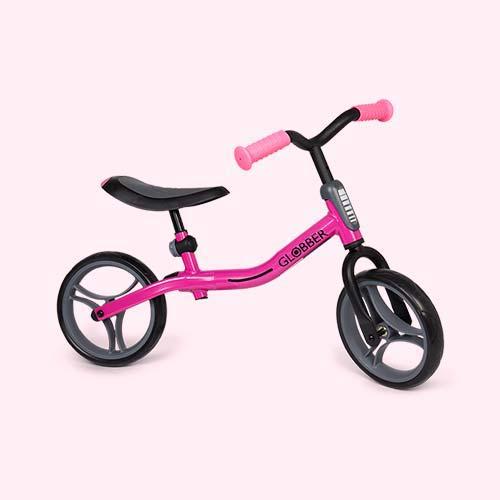 Neon Pink Globber Go Bike