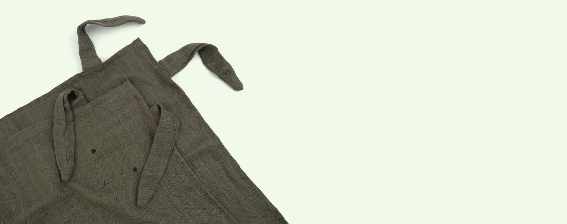 Rabbit Faune Green Liewood Hannah Muslin Cloth Rabbit 2 Pack