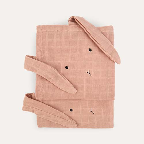 Rabbit Rose Liewood Hannah Muslin Cloth Rabbit 2 Pack
