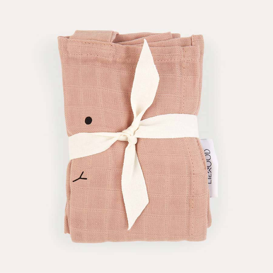 Rabbit Rose Liewood Hannah Muslin Cloth Rabbit 2 Pack