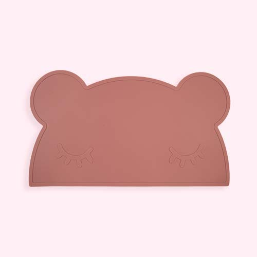Dusty Rose We Might Be Tiny Bear Placemat