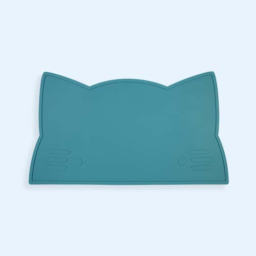 Blue Dusk We Might Be Tiny Cat Placemat