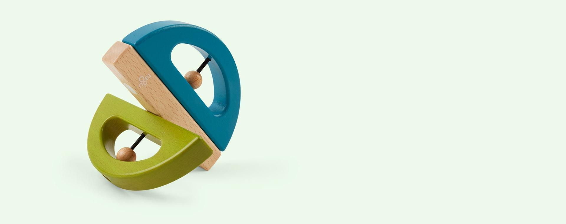 Green tegu Swivel Bug Rattle
