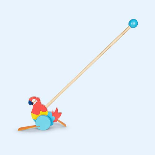Multi Sunnylife Macaw Push Along Toy