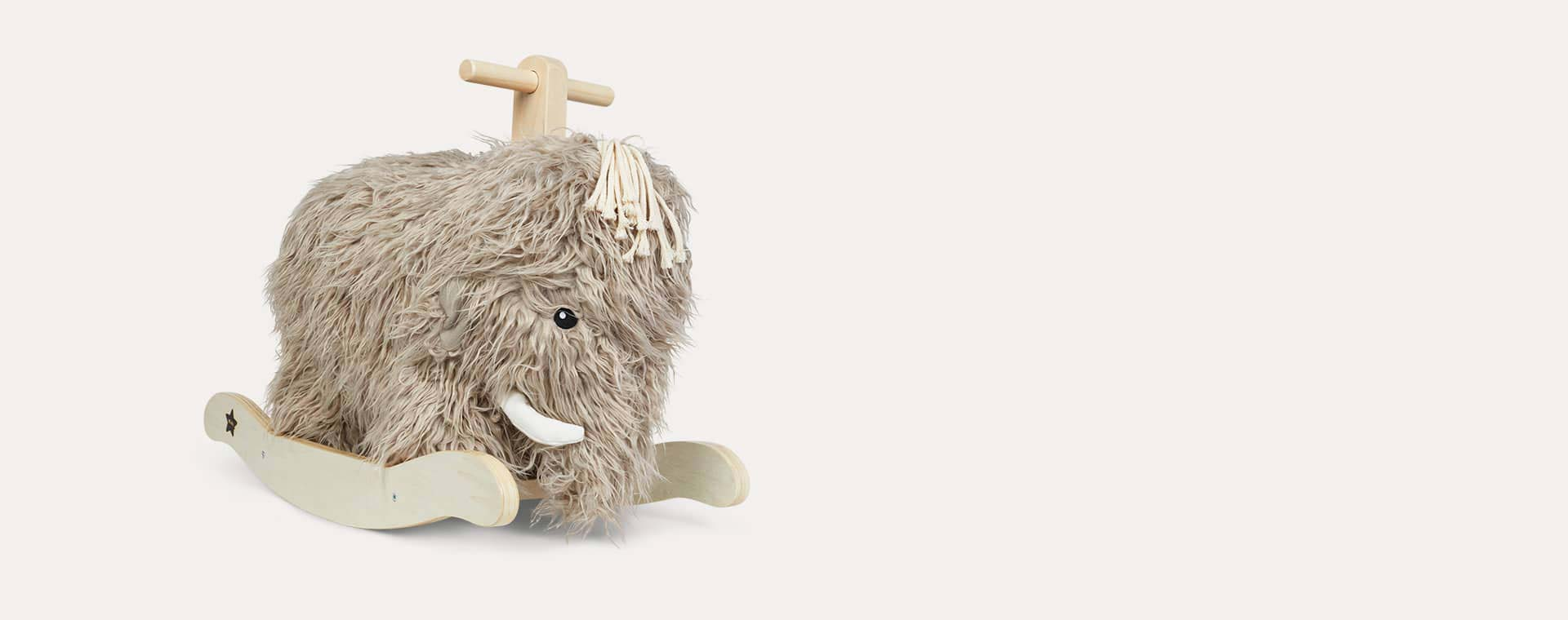Grey Kid's Concept Rocking Woolly Mammoth