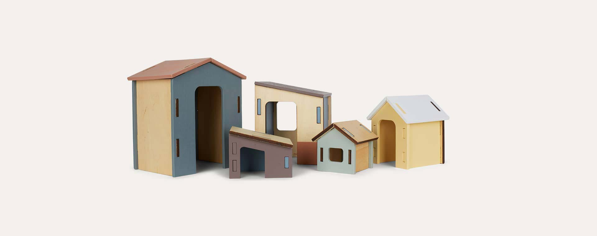 Multi Kid's Concept Wooden House Set