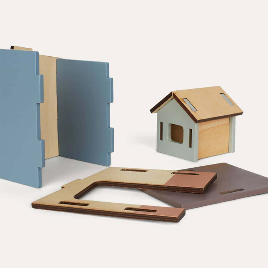 Multi Kid's Concept Wooden House Set