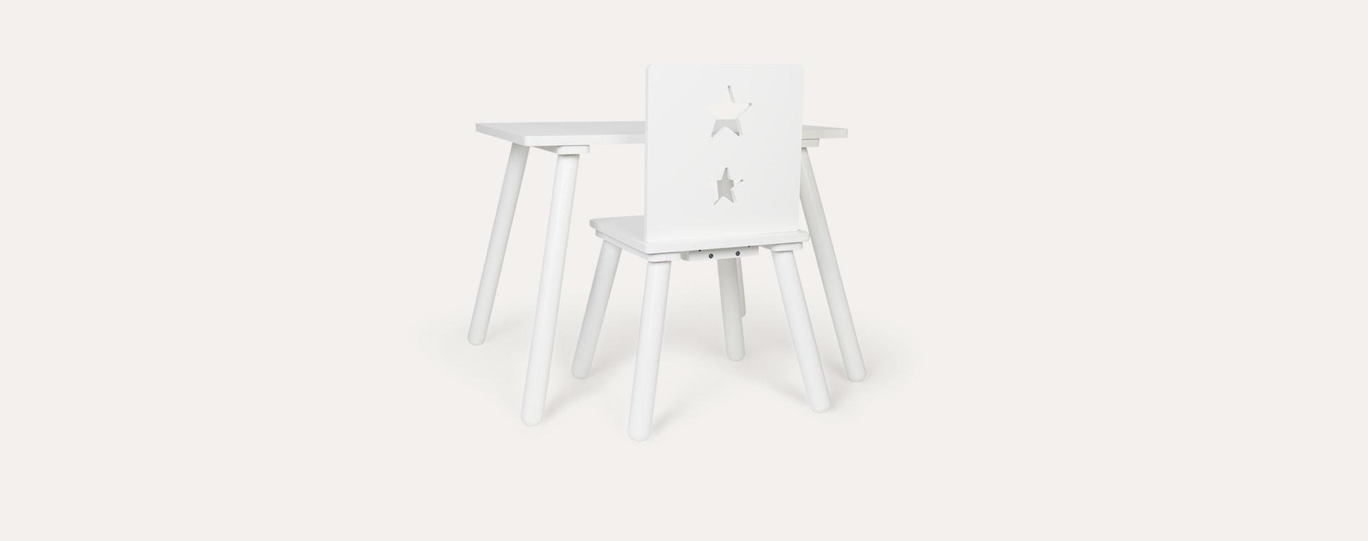 White Star Kid's Concept White Table