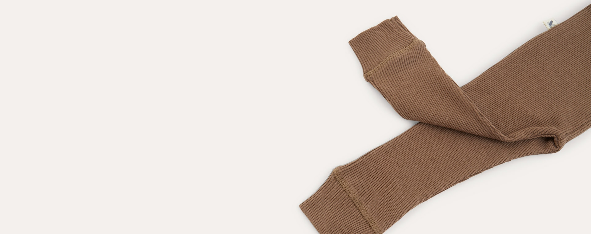 Mocha KIDLY Label Ribbed Legging