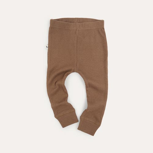 Mocha KIDLY Label Ribbed Legging