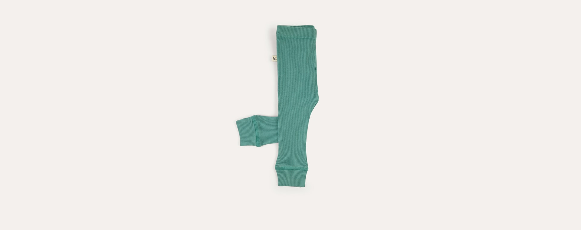 Mint KIDLY Label Ribbed Legging