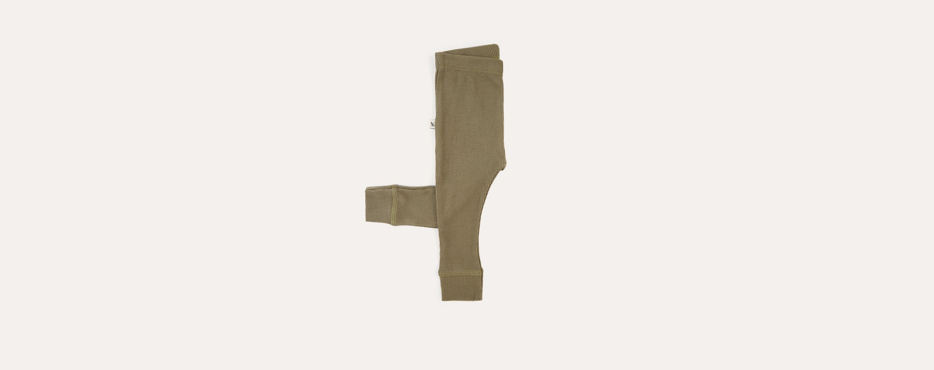 Khaki KIDLY Label Ribbed Legging