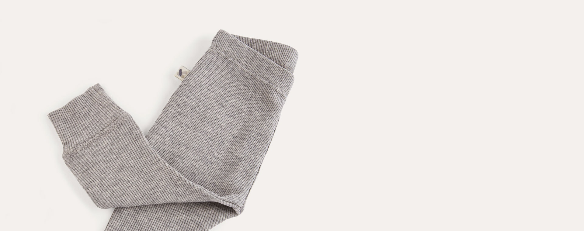 Lt Grey Marl KIDLY Label Ribbed Legging