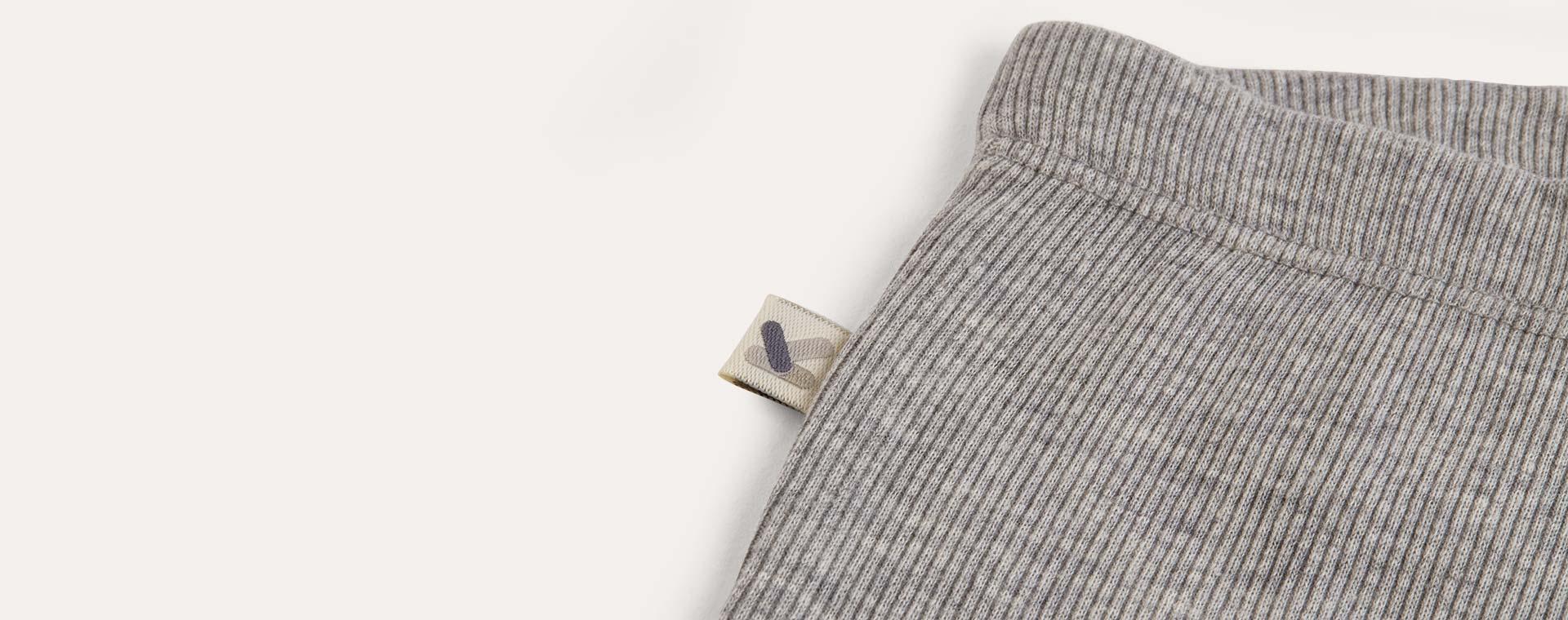Lt Grey Marl KIDLY Label Ribbed Legging
