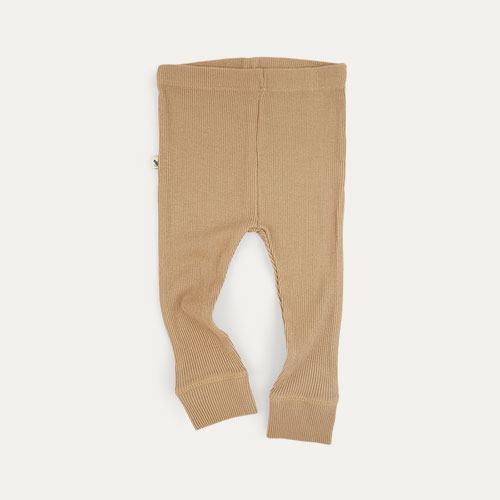 Natural KIDLY Label Ribbed Legging