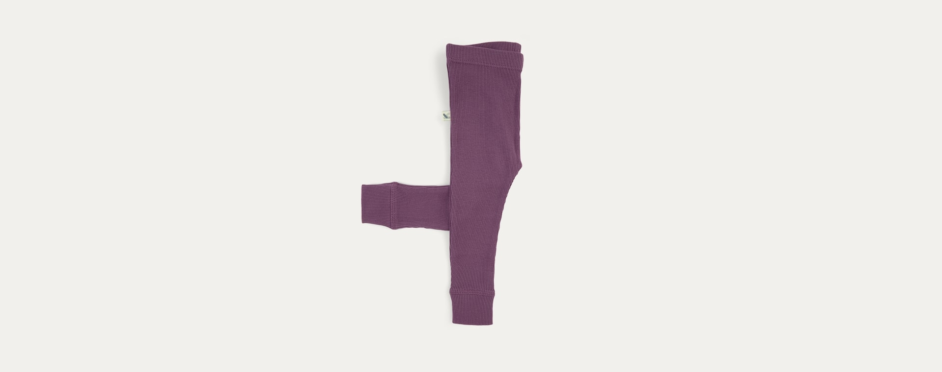 Grape KIDLY Label Ribbed Legging