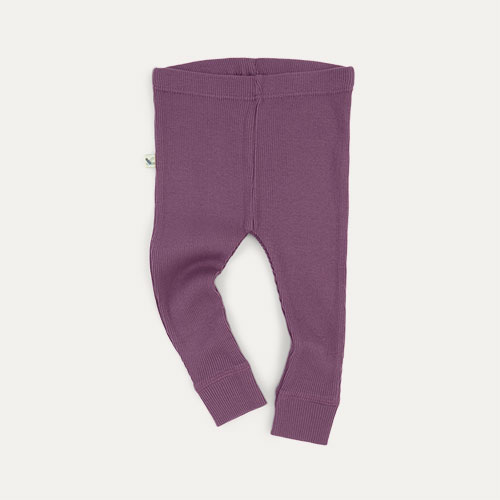 Grape KIDLY Label Ribbed Legging