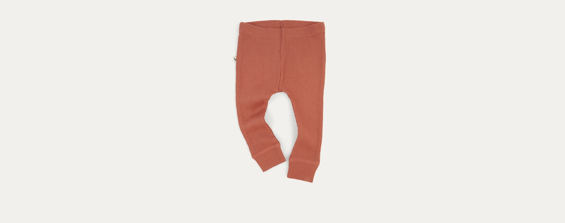 Brick KIDLY Label Ribbed Legging