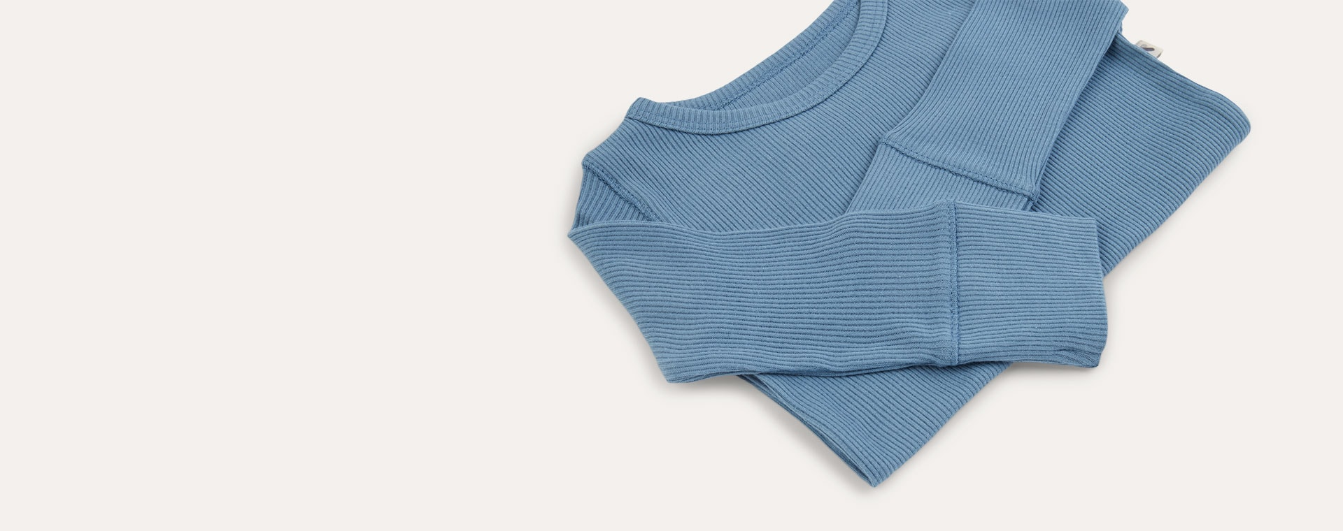 Sky KIDLY Label Ribbed Long Sleeve Tee