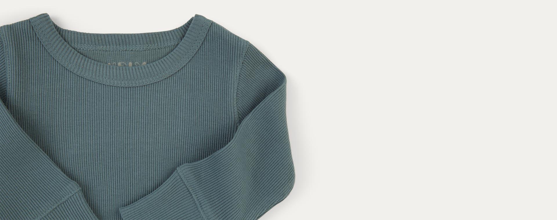 Eucalyptus KIDLY Label Ribbed Long Sleeve Tee