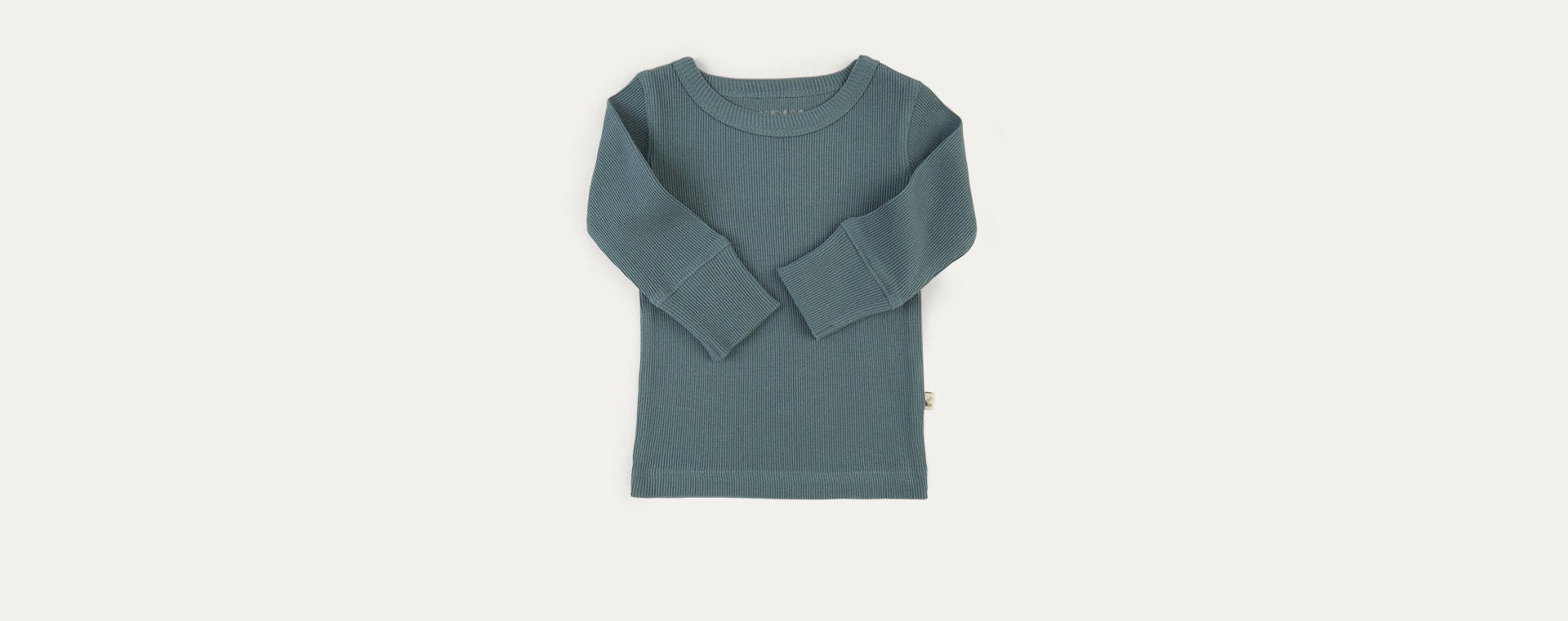 Eucalyptus KIDLY Label Ribbed Long Sleeve Tee