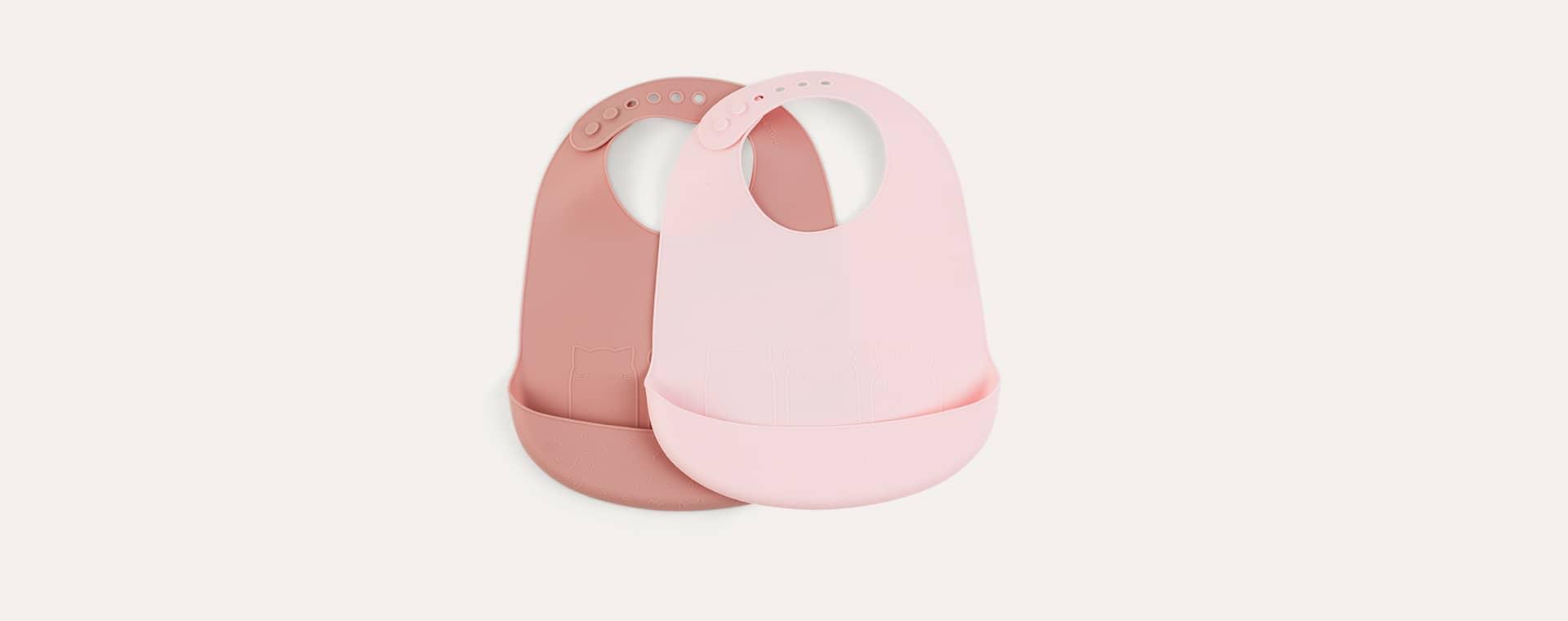Pinks We Might Be Tiny Silicone Bib Set