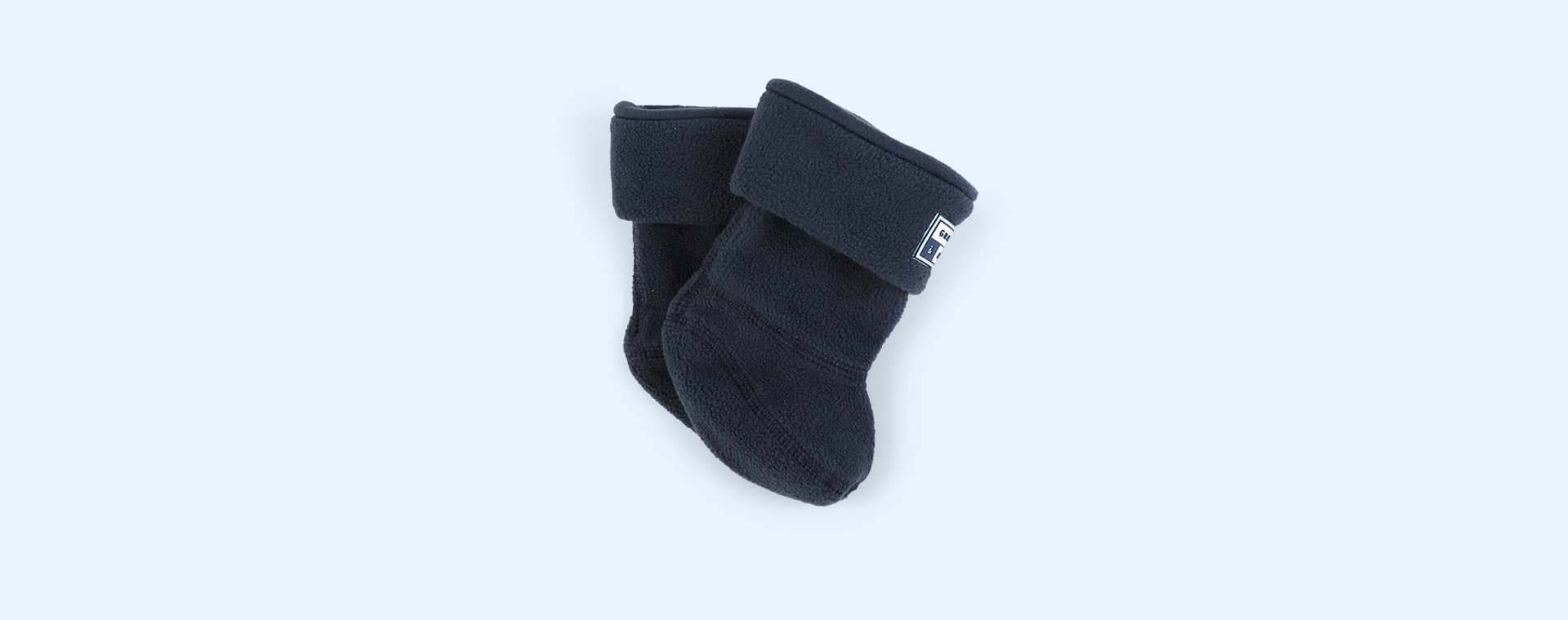 Navy Grass & Air Wellie Socks