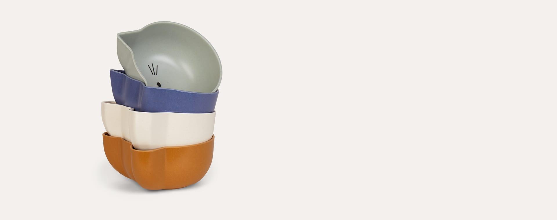 Blue Mix Liewood Snack Bowl 4 Pack Set