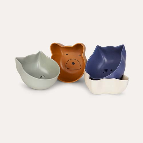 Blue Mix Liewood Snack Bowl 4 Pack Set