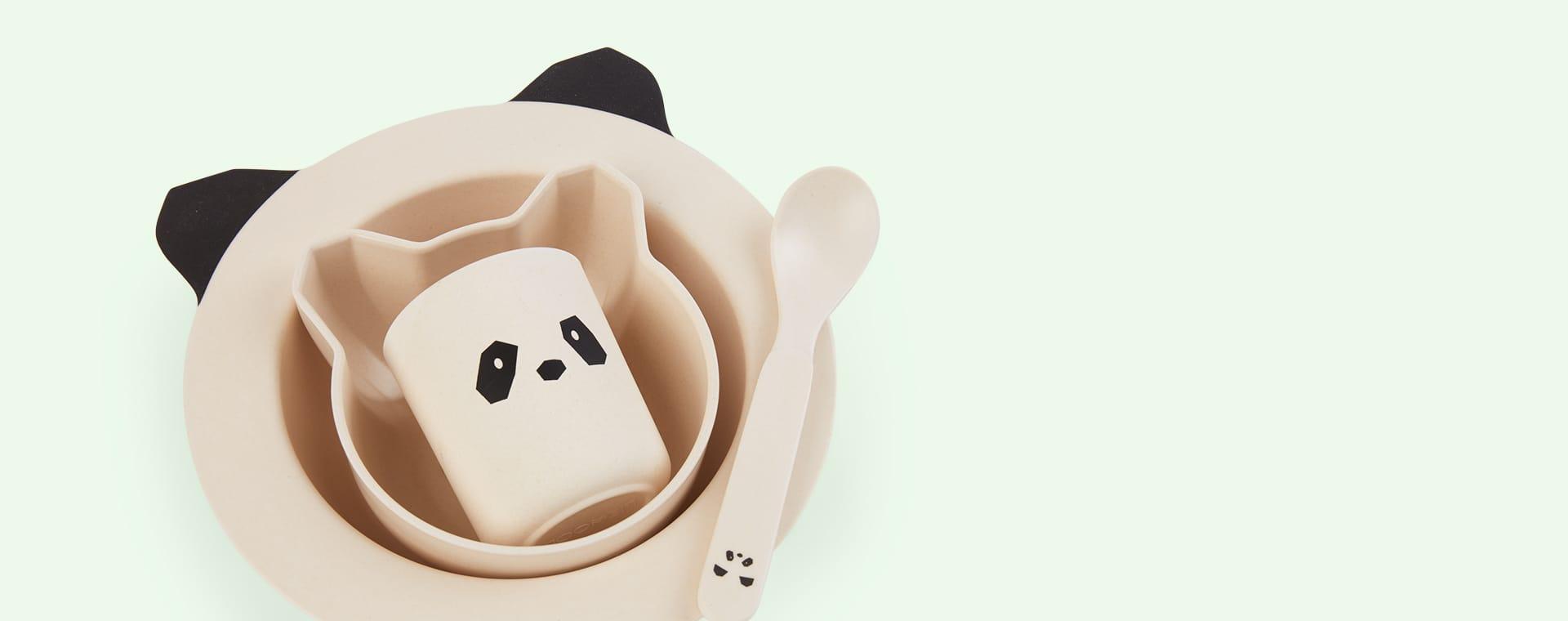 Panda Creme De La Creme Liewood Bamboo Baby Tableware Set