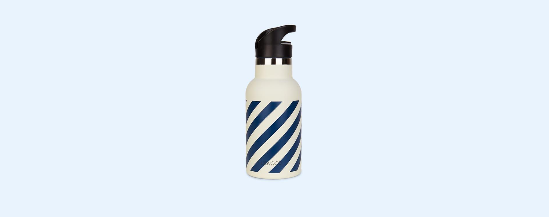 Navy Stripe Liewood Anker Striped Water Bottle