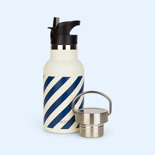Navy Stripe Liewood Anker Striped Water Bottle