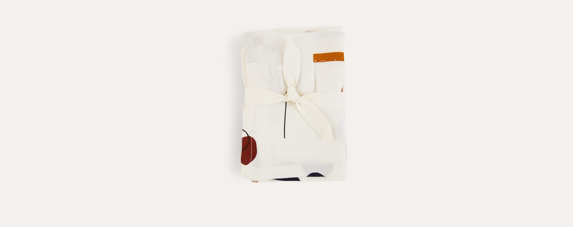 Abstract/Off White Liewood Muslin Cloth 2 Pack