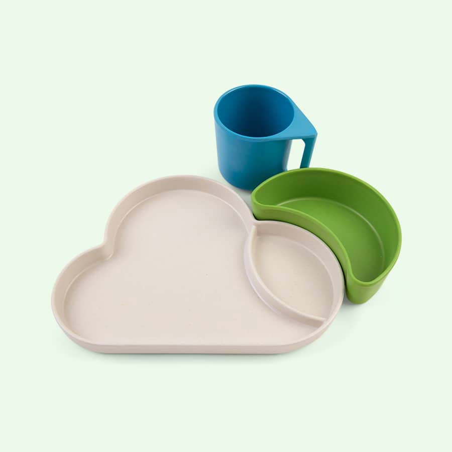 Blue Mix Tum Tum Eco Cloud Dining Set