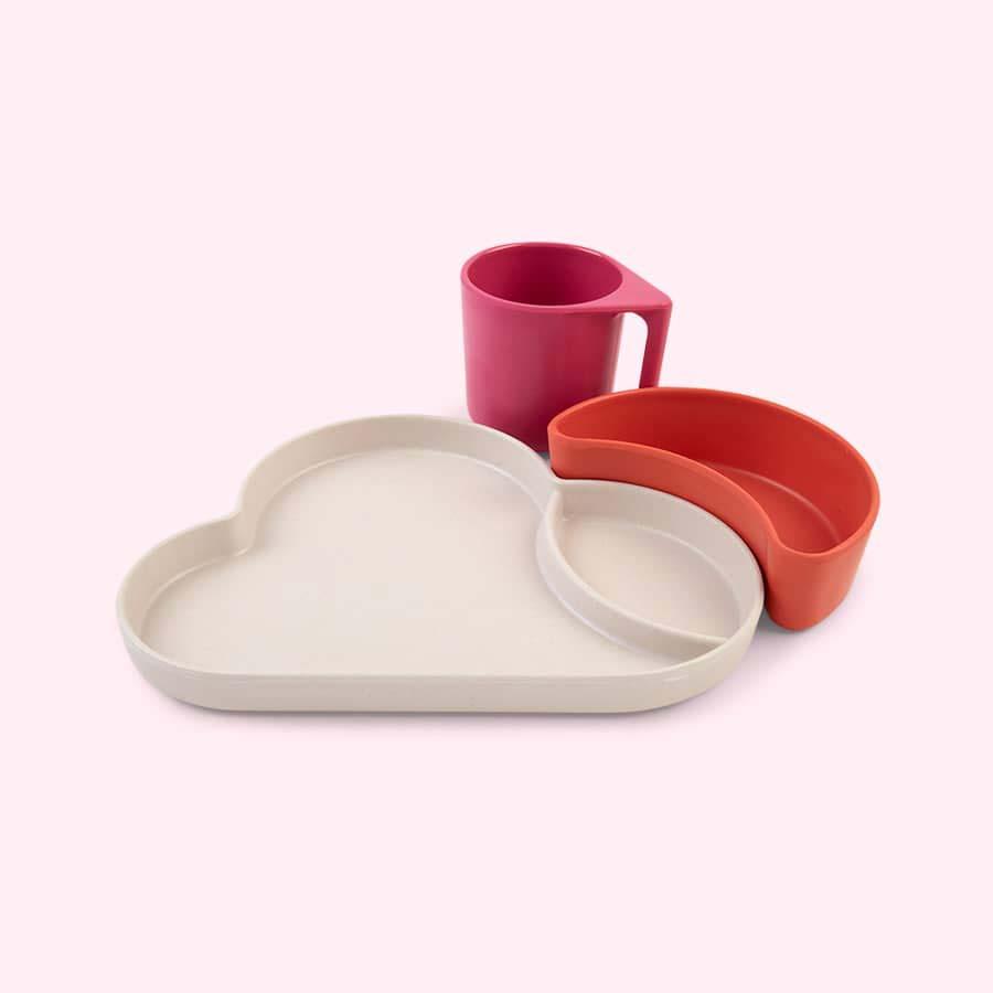 Pink Mix Tum Tum Eco Cloud Dining Set