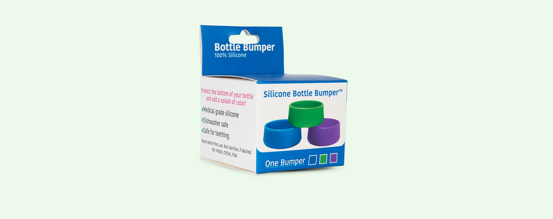 Spring Green Pura Silicone Bottle Bumper