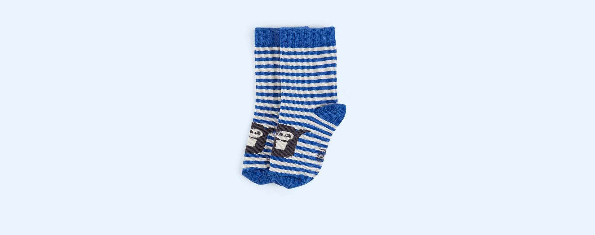 Blue The Bonnie Mob Stripe Short Socks