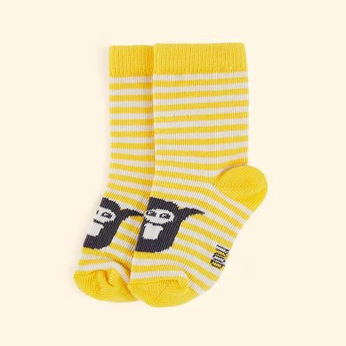 Yellow The Bonnie Mob Stripe Short Socks